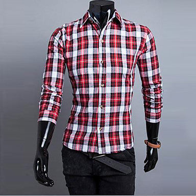Men's Design Fashion Leisure Classic Checkered Shirt