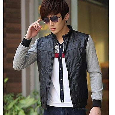 Men's Leisure Fashion Collar Wear a Coat