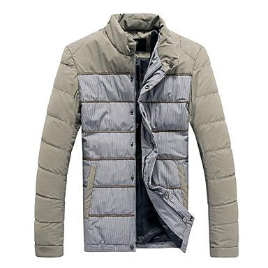 Men's New Design Contrast Color Casual Outerwear