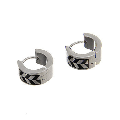 Fashion Zebra Pattern Silver Alloy Stud Earring(1 Pair)