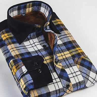 Men's Warm Spell Plaid Business Casual Shirt