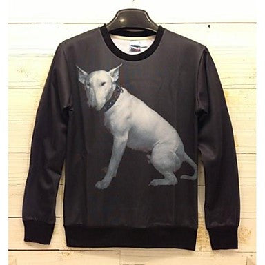Men's 3D Series Dog Pattern Printing Fashion Fleece