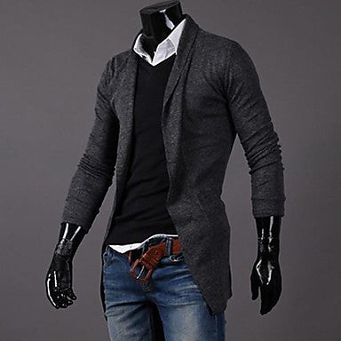 Men's Korean Style Turtle Neck Cardigan Sweater