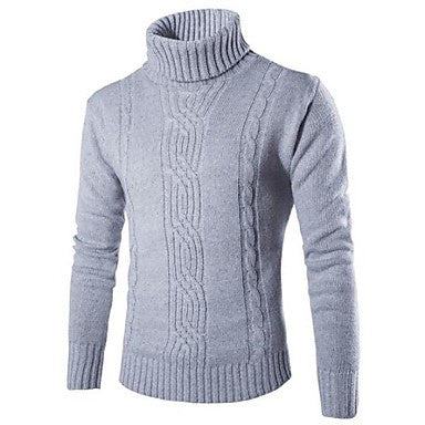 Men's High Collar Lapel Pullover Sweater Fashion Color