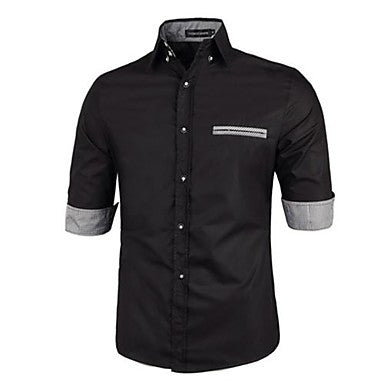 Men's Casual Fashion Stand Collar Slim Shirt