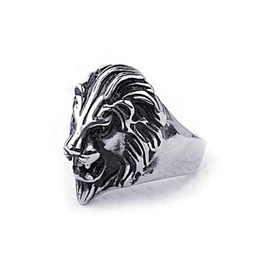 Mumar Fashionable Lion Shaped Stainless Steel Men¡®s Rings