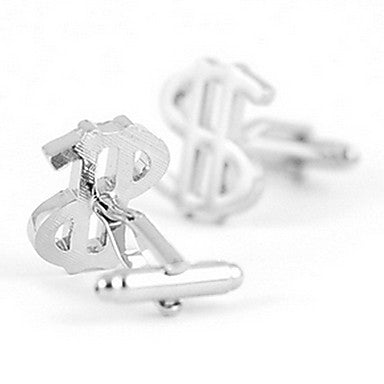 Memorable Money-Shape Silver Plated Alloy Cufflinks(1 Pair)