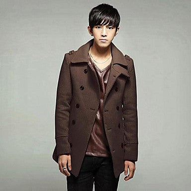 Men's Minimalistic Slim Woolen Coat