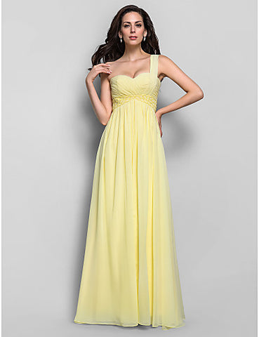 Sheath/Column One Shoulder Chiffon Floor-length Mother of the Bride Dress