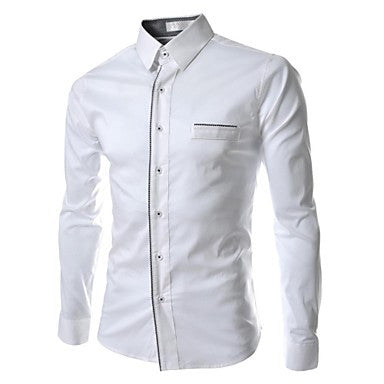 Men's Luxury Leisure Edge of Cultivate One's Morality Long Sleeve Shirt