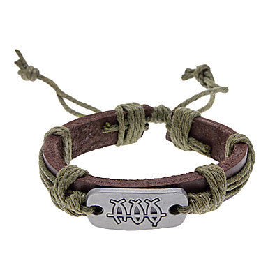 Unisex Fish Fabric Leather Bracelet(Random Color)