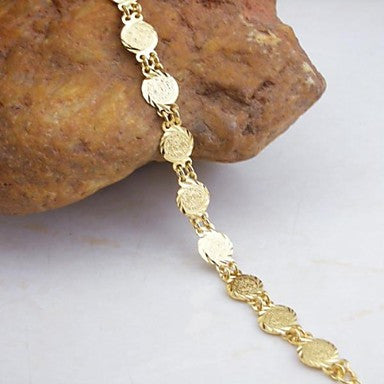 18K Gold Plated Coin Pandant Bracelet