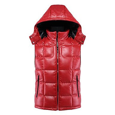Men Move Feeling Fashion, Cultivate One's Morality Couples PU Leather Vest