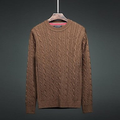 Men's Fashion Solid Color Wool Sweater