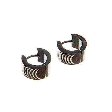 Fashion Brackets Pattern Black Alloy Stud Earring(1 Pair)