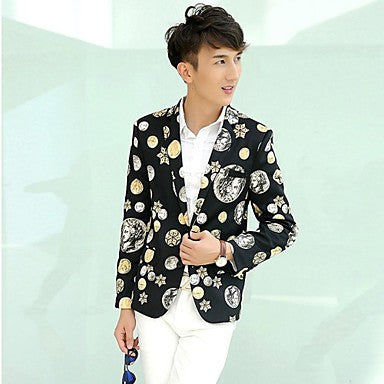 Men's Trend Printing Small Suit