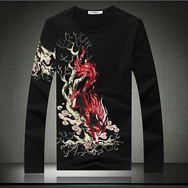 Men's Fashion Long-Sleeved T-Shirts