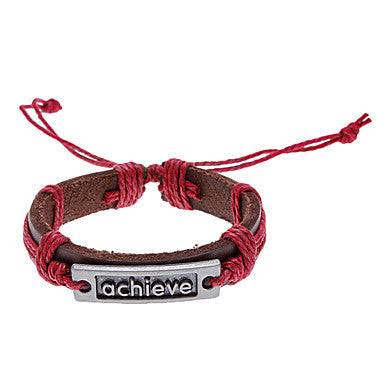 Unisex Achieve Fabric Leather Bracelet(Random Color)