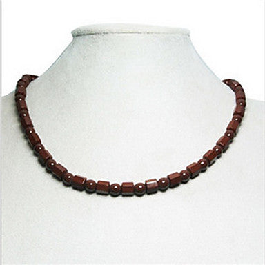 Health Caring (Germanite) Brown Gem Power Necklace (1 Pc)