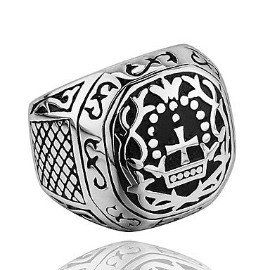 Vintage Cross Pattern Men's Statement Ring(1 Pc)