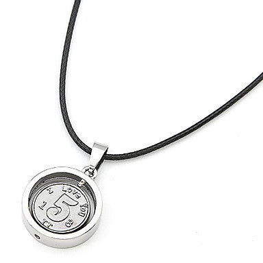 Silver Plated Lucky 5 Alloy Necklace