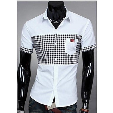 Men's Summer Slim Casual Fashion Stand Collar Shirt