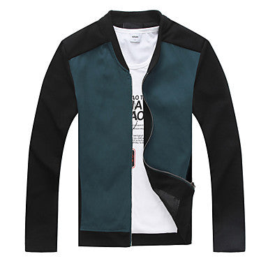 Men's Collar Stitching Single-breasted Leisure Jacket