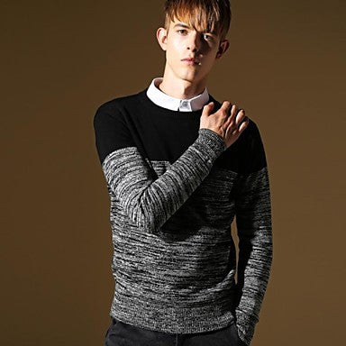 Men's Round Collar Fashion Leisure Sweater