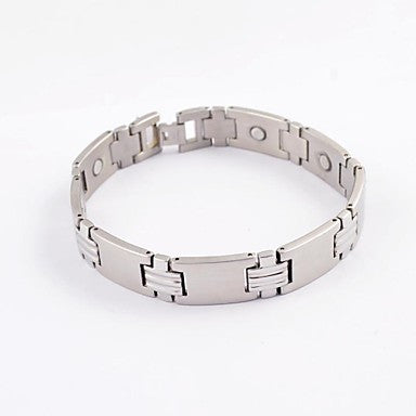 Fashion Men's Sacred Cross Health Magnet Titanium Steel Bracelets