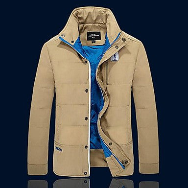 Men's Korean Slim Thick Casual Padded Jacket