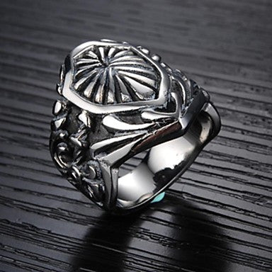 Stylish Men Cool Ambition the High-quality Goods Titanium Steel Ring