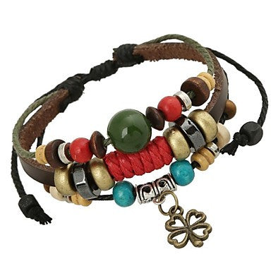 Clover Leather Bracelet