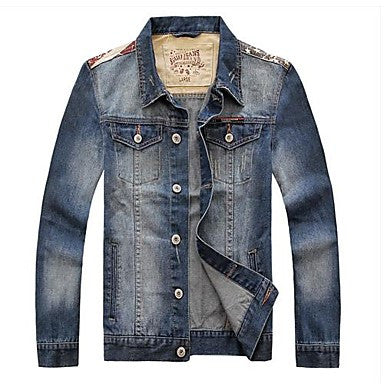 Men's Fashion Splicing Denim Jacket Coat