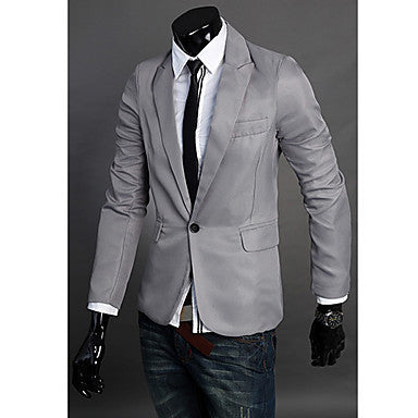 Men's British Style Small Pointed Collar Single Button Suit