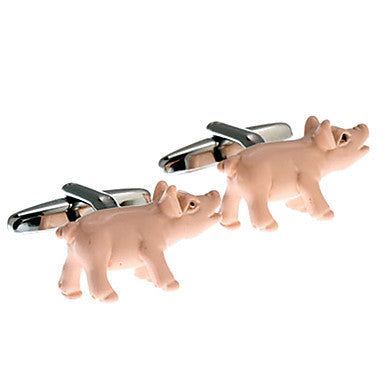 Men's Pig Animal Cufflinks(2 PCS)