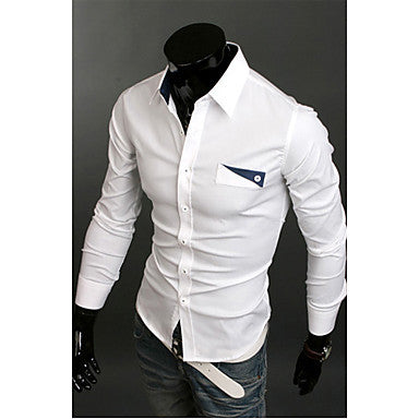Men's Casual Pcoket Embellishment Shirt