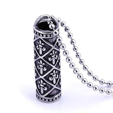 Mumar Classic Hollow Design Stainless Steel Pendant Necklace Men's Jewelry