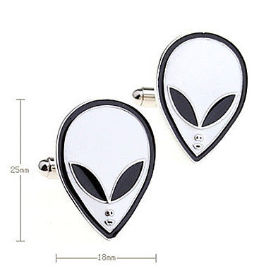 Alien Pattern Men's Cufflinks