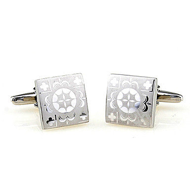 Carved Square Style Cufflinks