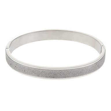 (1 Pc) Fashion Unisex Silver Stainless Steel Bangle