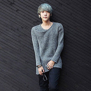 Men's Fashion Irregular Knit Sweater