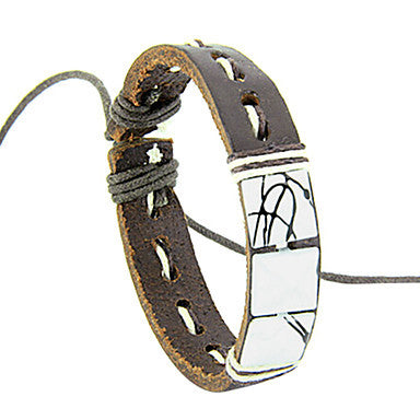 Vintage Handmade Rivet Men's Leather Bracelet(1 Pc)