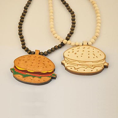 Hamburg Pattern Wood Necklace
