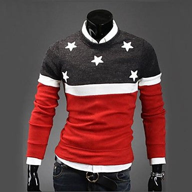 Men's Casual Fashion Thick Slim Jumper
