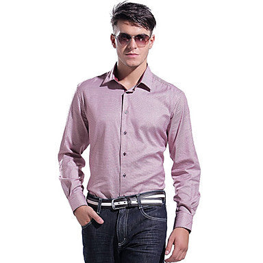 Men's Causal Business Cotton Long Sleeve Shirt