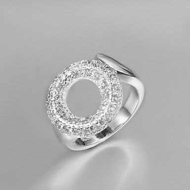 Fashion Annular Men's Silver Silver Plated Statement Ring(1 Pc)