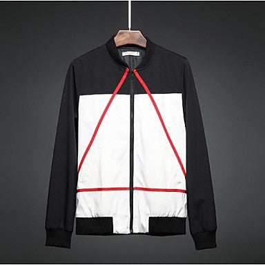 Men's Fashion Triangle Pattern Jacket