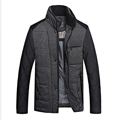Men's Classic Stand Collar Knitwear Down Coat