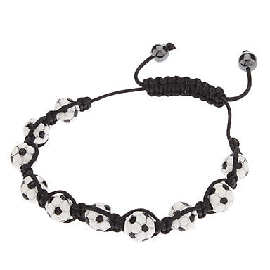 Football Shaped Stone Knit Bracelace