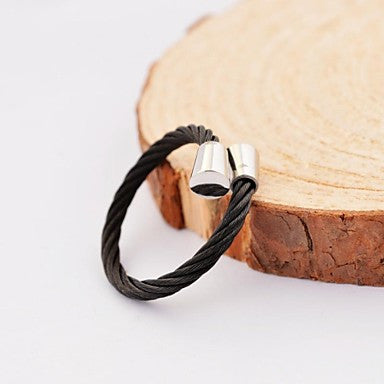 Fashion Bugle Cable Stainles Steel Rings